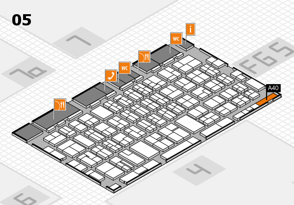 MEDICA 2016 hall map (Hall 5): stand A40