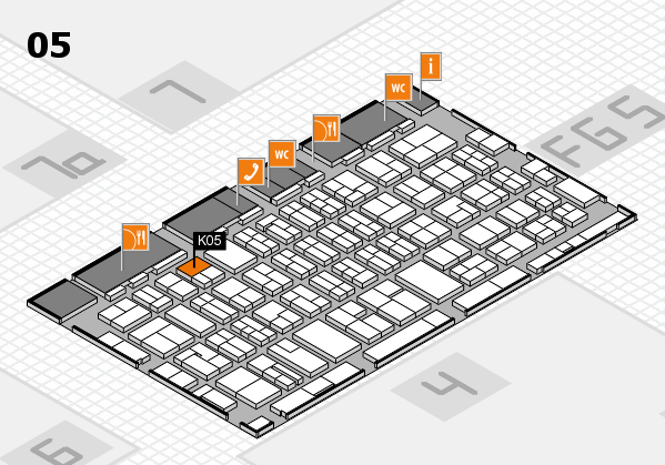MEDICA 2016 hall map (Hall 5): stand K05