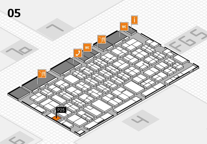 MEDICA 2016 hall map (Hall 5): stand P25