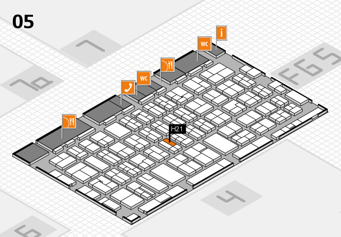 MEDICA 2016 hall map (Hall 5): stand H21