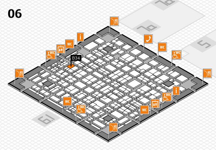 MEDICA 2016 hall map (Hall 6): stand B34