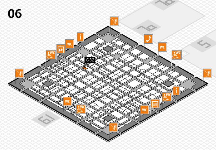 MEDICA 2016 hall map (Hall 6): stand C32