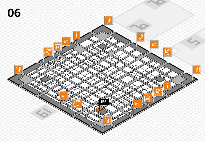 MEDICA 2016 hall map (Hall 6): stand J56