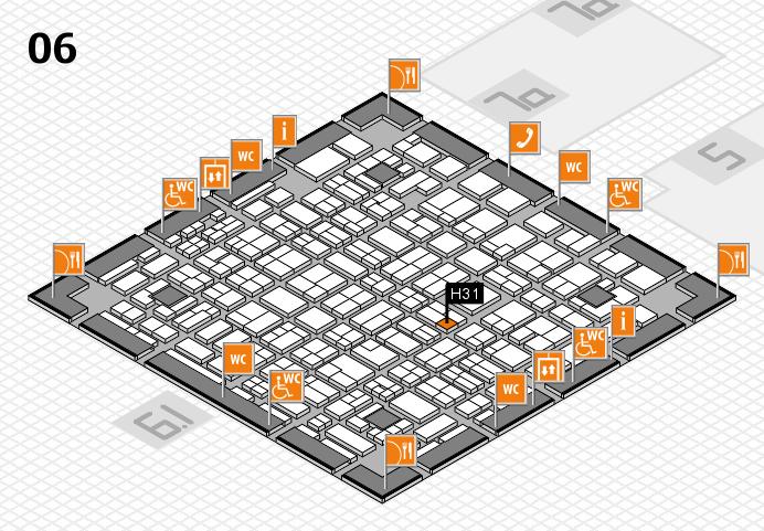 MEDICA 2016 hall map (Hall 6): stand H31