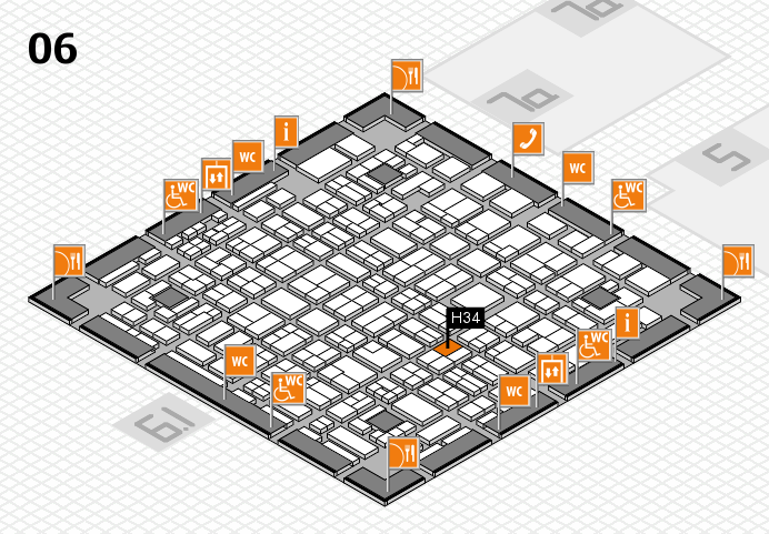 MEDICA 2016 hall map (Hall 6): stand H34