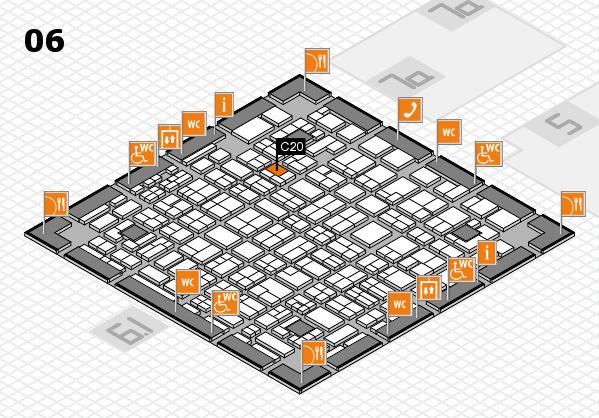 MEDICA 2016 hall map (Hall 6): stand C20