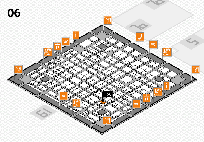 MEDICA 2016 hall map (Hall 6): stand H50