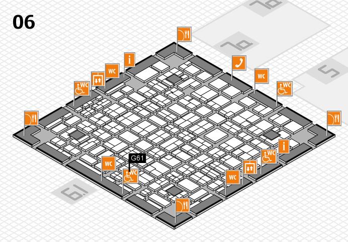 MEDICA 2016 hall map (Hall 6): stand G61