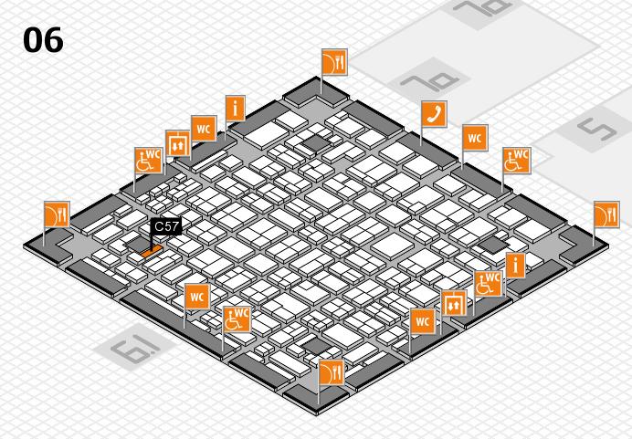 MEDICA 2016 hall map (Hall 6): stand C57