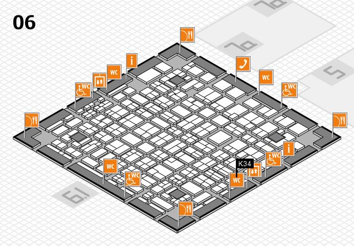 MEDICA 2016 hall map (Hall 6): stand K34