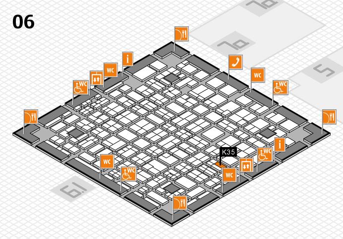MEDICA 2016 hall map (Hall 6): stand K35