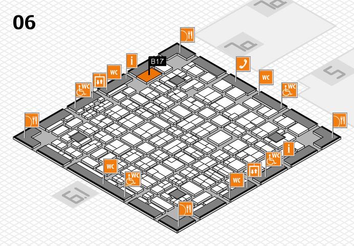 MEDICA 2016 hall map (Hall 6): stand B17