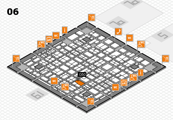 MEDICA 2016 hall map (Hall 6): stand G50