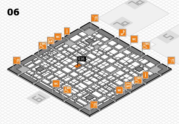 MEDICA 2016 hall map (Hall 6): stand E35