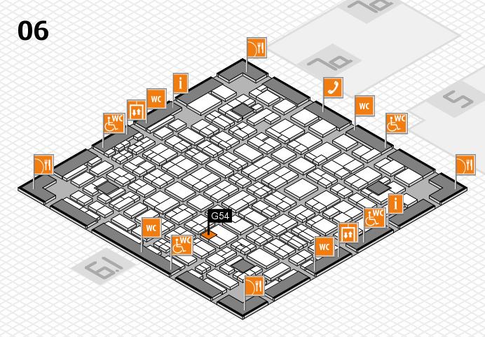 MEDICA 2016 hall map (Hall 6): stand G54
