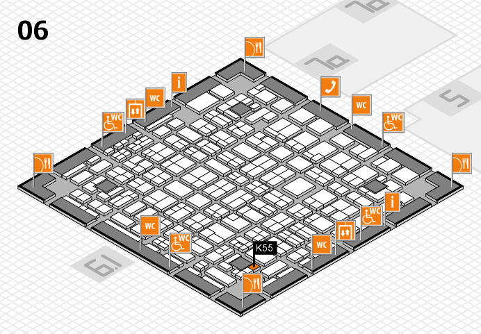 MEDICA 2016 hall map (Hall 6): stand K55