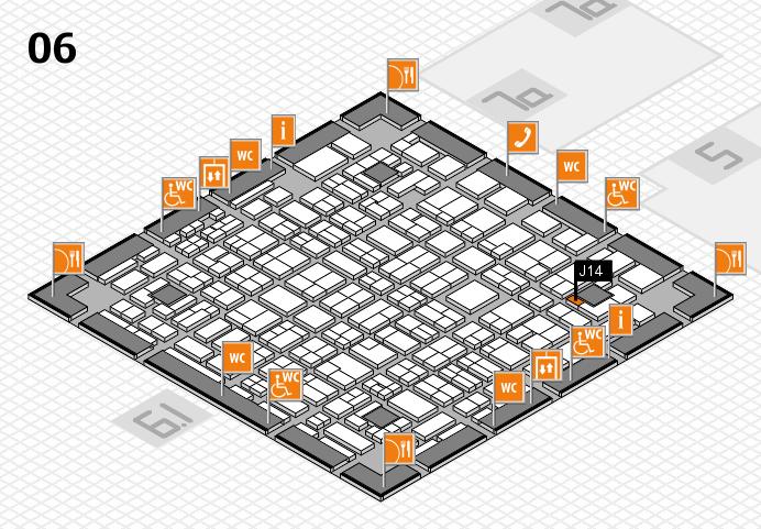 MEDICA 2016 hall map (Hall 6): stand J14
