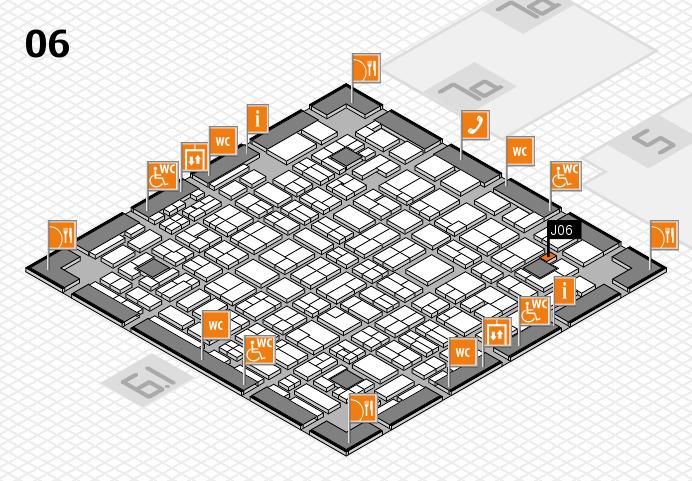 MEDICA 2016 hall map (Hall 6): stand J06