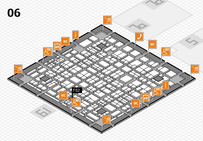 MEDICA 2016 hall map (Hall 6): stand F62