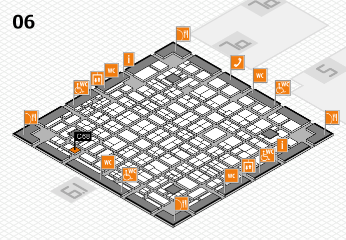 MEDICA 2016 hall map (Hall 6): stand C68