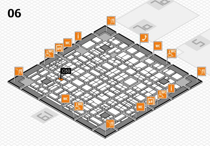 MEDICA 2016 hall map (Hall 6): stand C50