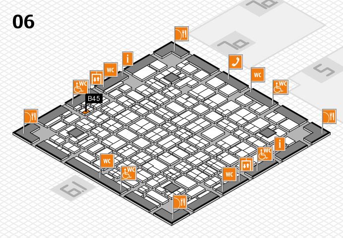 MEDICA 2016 hall map (Hall 6): stand B45