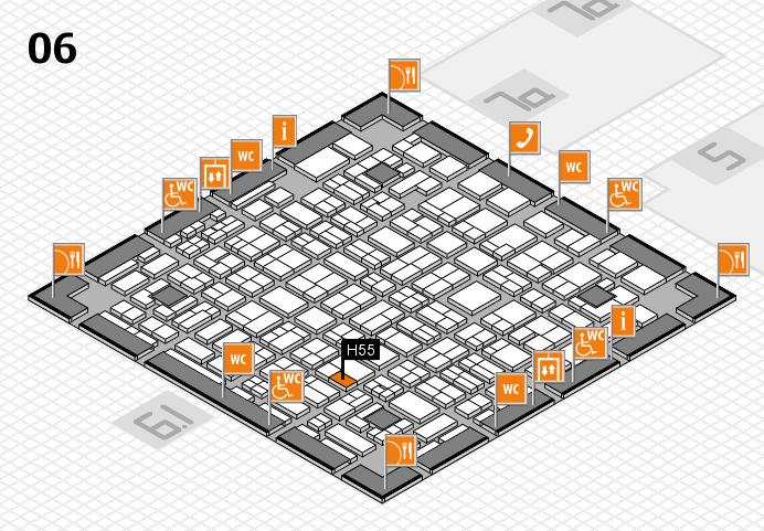 MEDICA 2016 hall map (Hall 6): stand H55