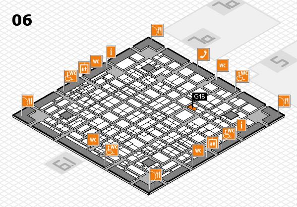 MEDICA 2016 hall map (Hall 6): stand G18