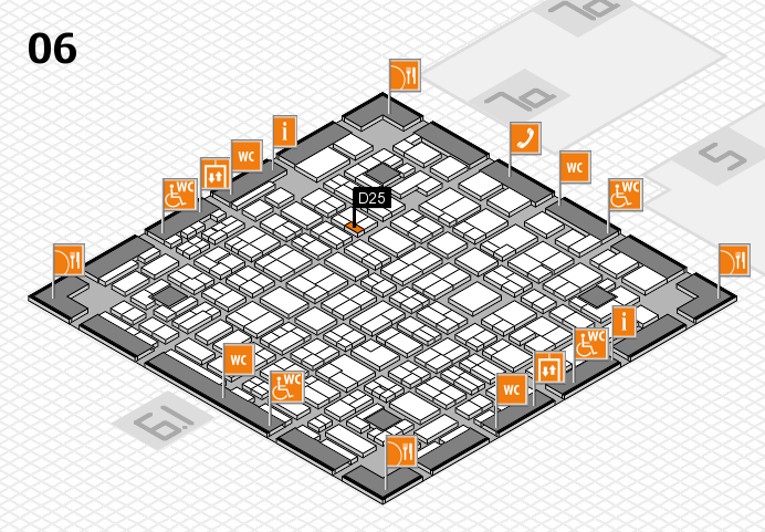 MEDICA 2016 hall map (Hall 6): stand D25