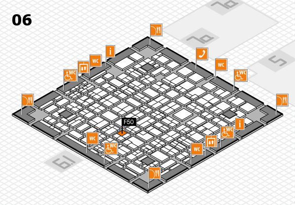 MEDICA 2016 hall map (Hall 6): stand F50
