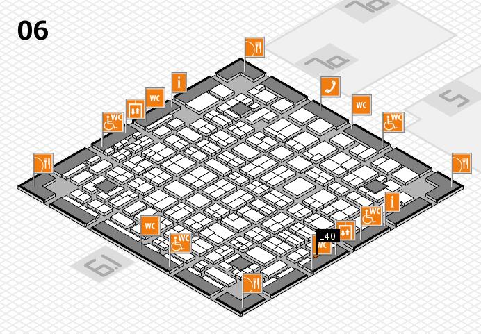 MEDICA 2016 hall map (Hall 6): stand L40