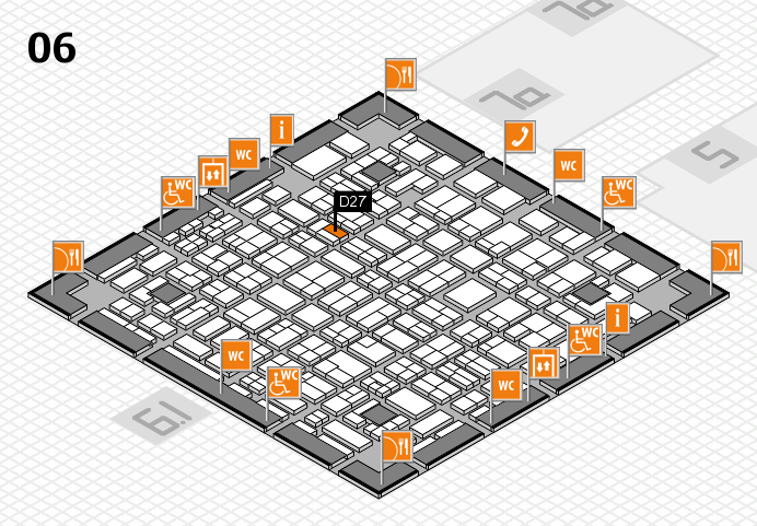 MEDICA 2016 hall map (Hall 6): stand D27