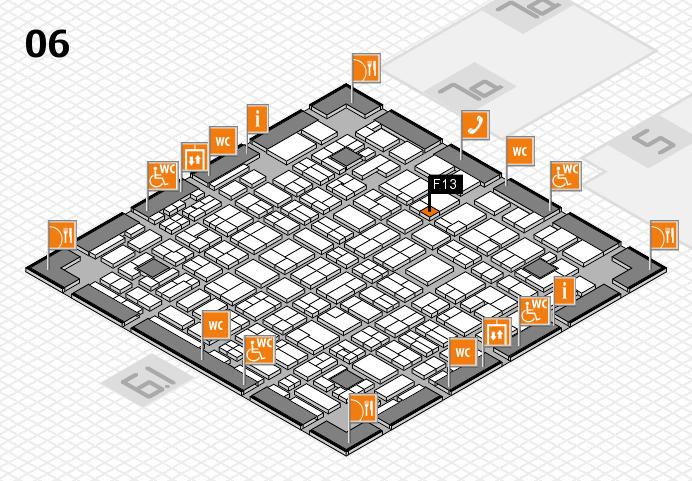 MEDICA 2016 hall map (Hall 6): stand F13