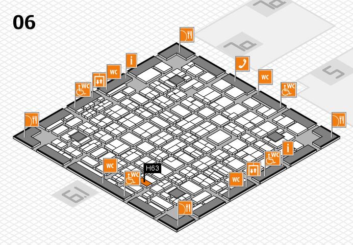 MEDICA 2016 hall map (Hall 6): stand H63