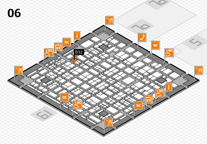 MEDICA 2016 hall map (Hall 6): stand B32
