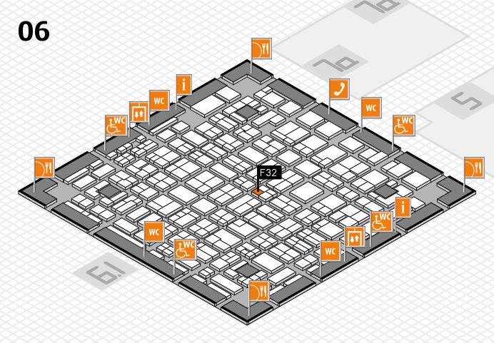 MEDICA 2016 hall map (Hall 6): stand F32