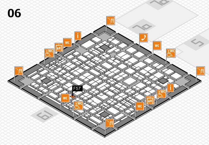 MEDICA 2016 hall map (Hall 6): stand F57
