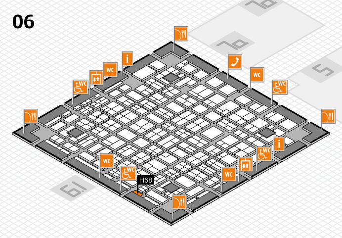MEDICA 2016 hall map (Hall 6): stand H68
