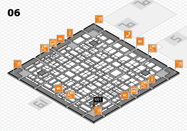 MEDICA 2016 hall map (Hall 6): stand K61