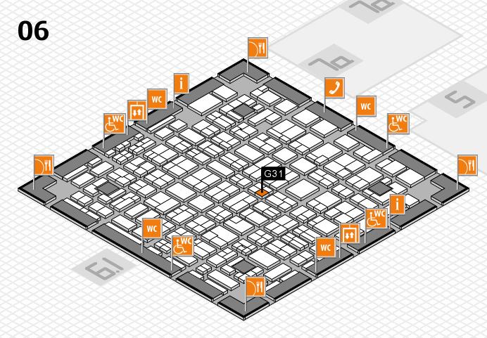 MEDICA 2016 hall map (Hall 6): stand G31