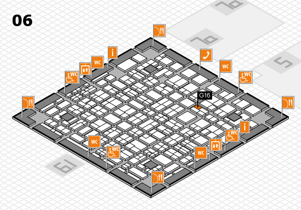 MEDICA 2016 hall map (Hall 6): stand G16