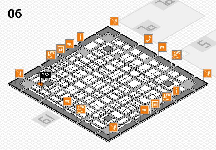 MEDICA 2016 hall map (Hall 6): stand B62