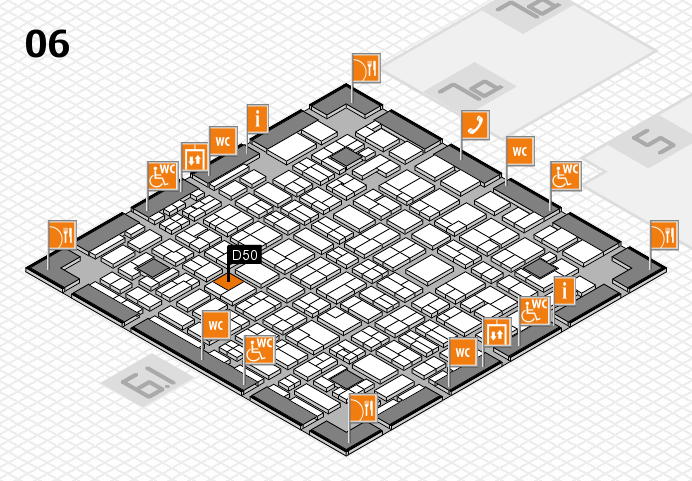 MEDICA 2016 hall map (Hall 6): stand D50