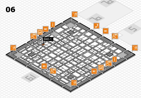 MEDICA 2016 hall map (Hall 6): stand B40-1
