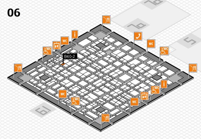 MEDICA 2016 hall map (Hall 6): stand B40-2