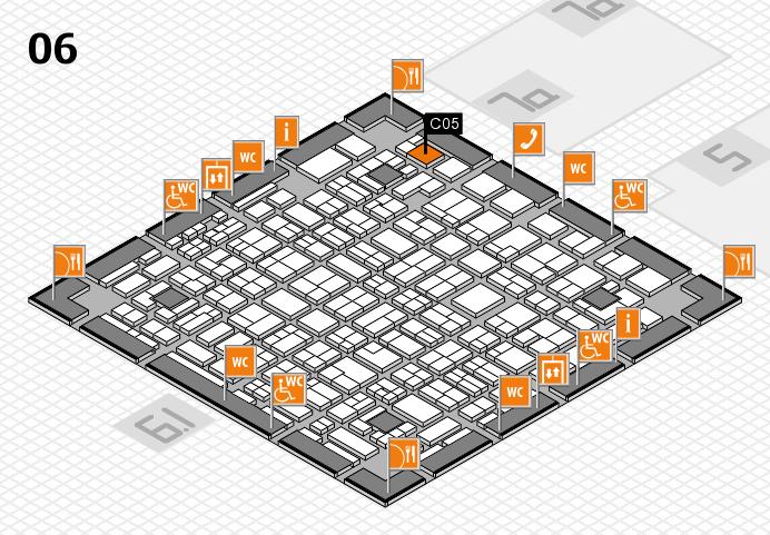 MEDICA 2016 hall map (Hall 6): stand C05