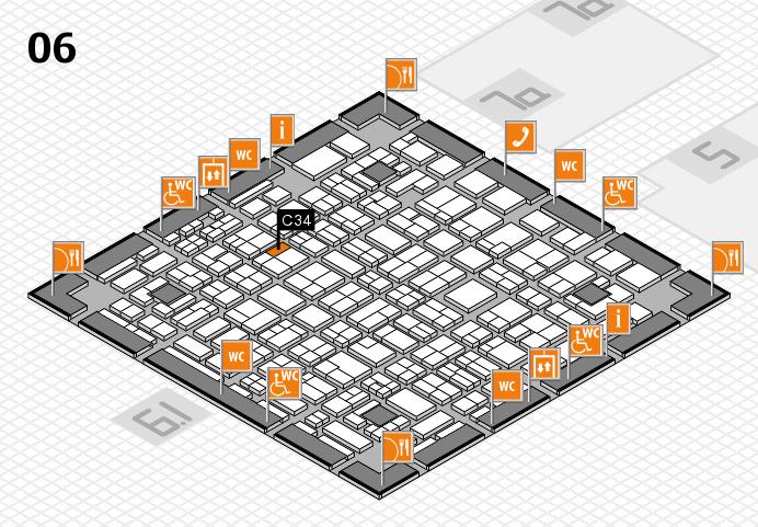 MEDICA 2016 hall map (Hall 6): stand C34