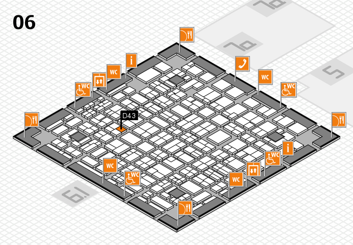 MEDICA 2016 hall map (Hall 6): stand D43