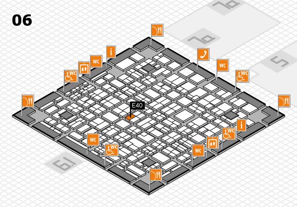 MEDICA 2016 hall map (Hall 6): stand E40