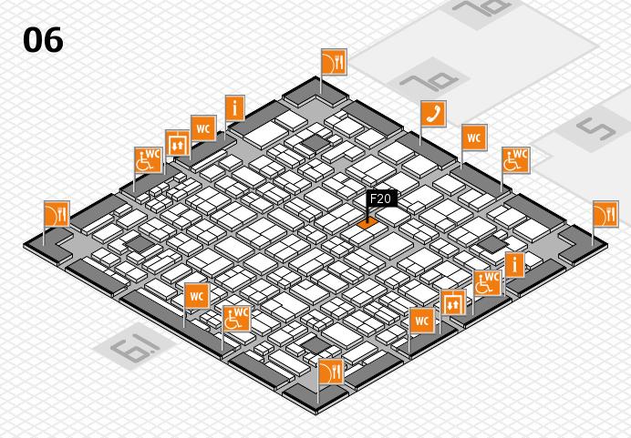 MEDICA 2016 hall map (Hall 6): stand F20